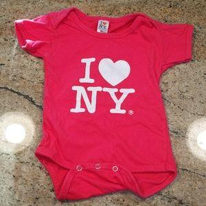 I Love New York Onesie 12 Months
